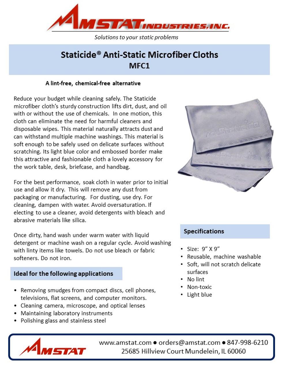 Anti Static Microfiber Cloths