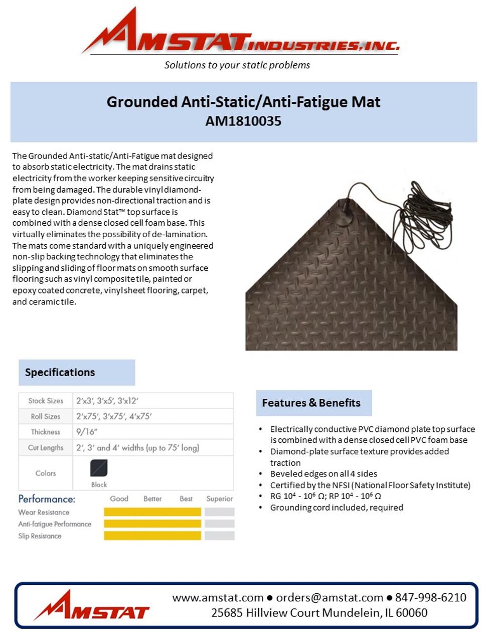 Grounded Anti-Static/Anti-Fatigue Matting