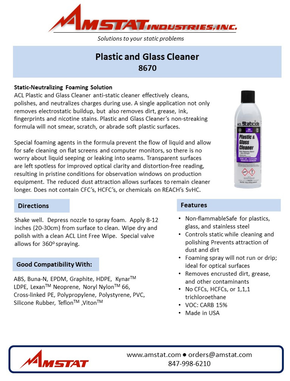 Plastic and Glass Cleaner