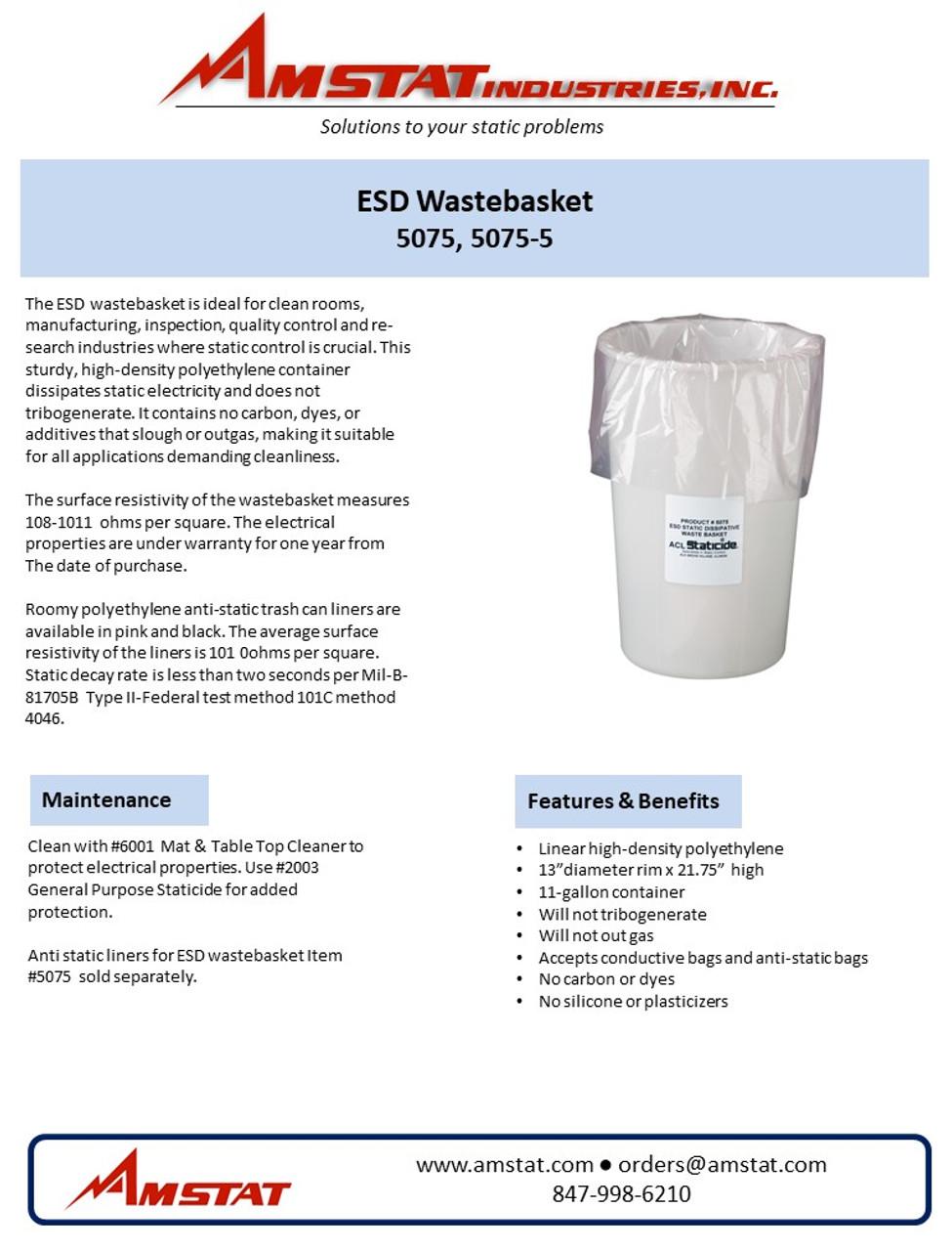 ESD Wastebasket