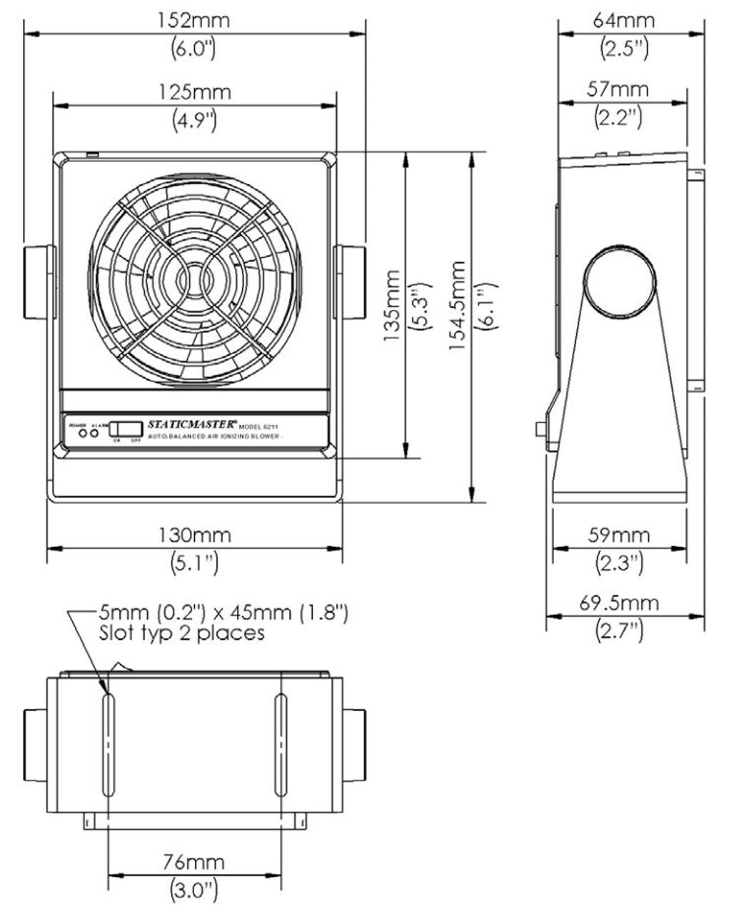 Auto-Balanced Ionizing Blower - 100 CFM