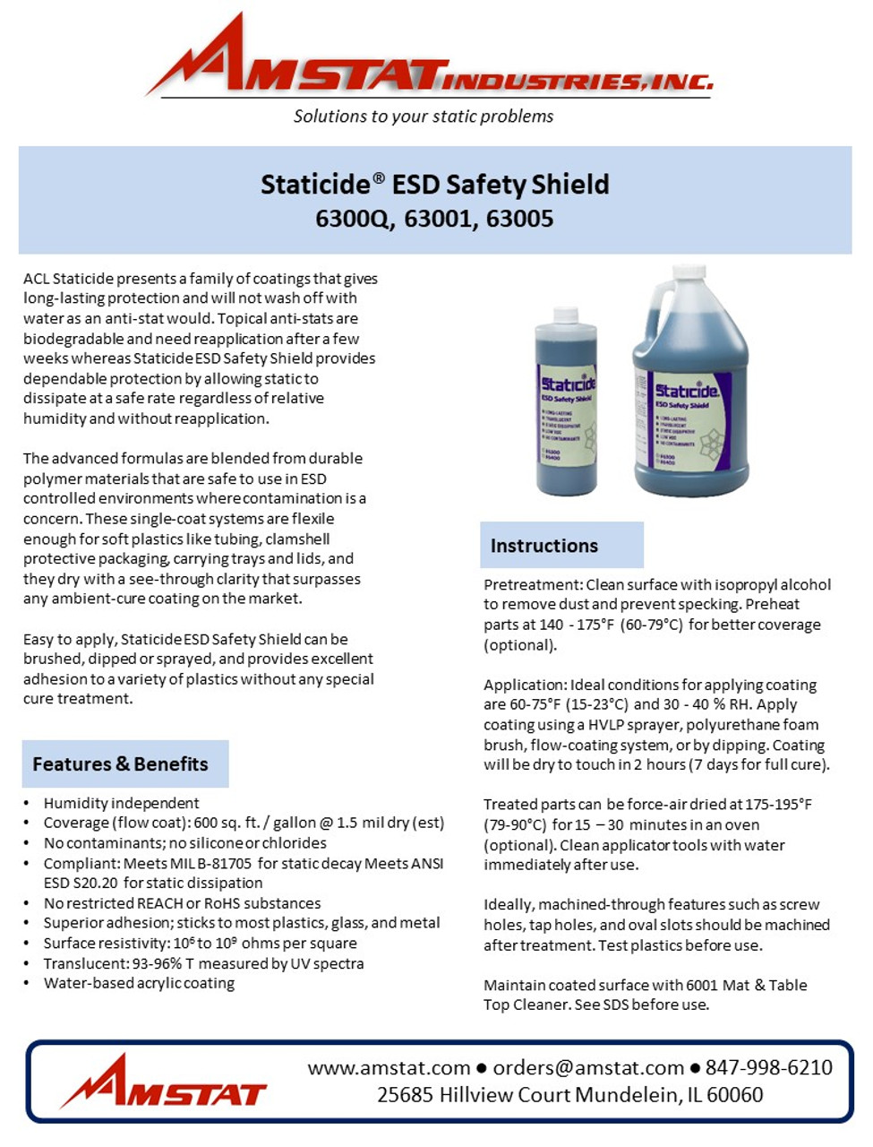 Staticide ESD Safety Shield