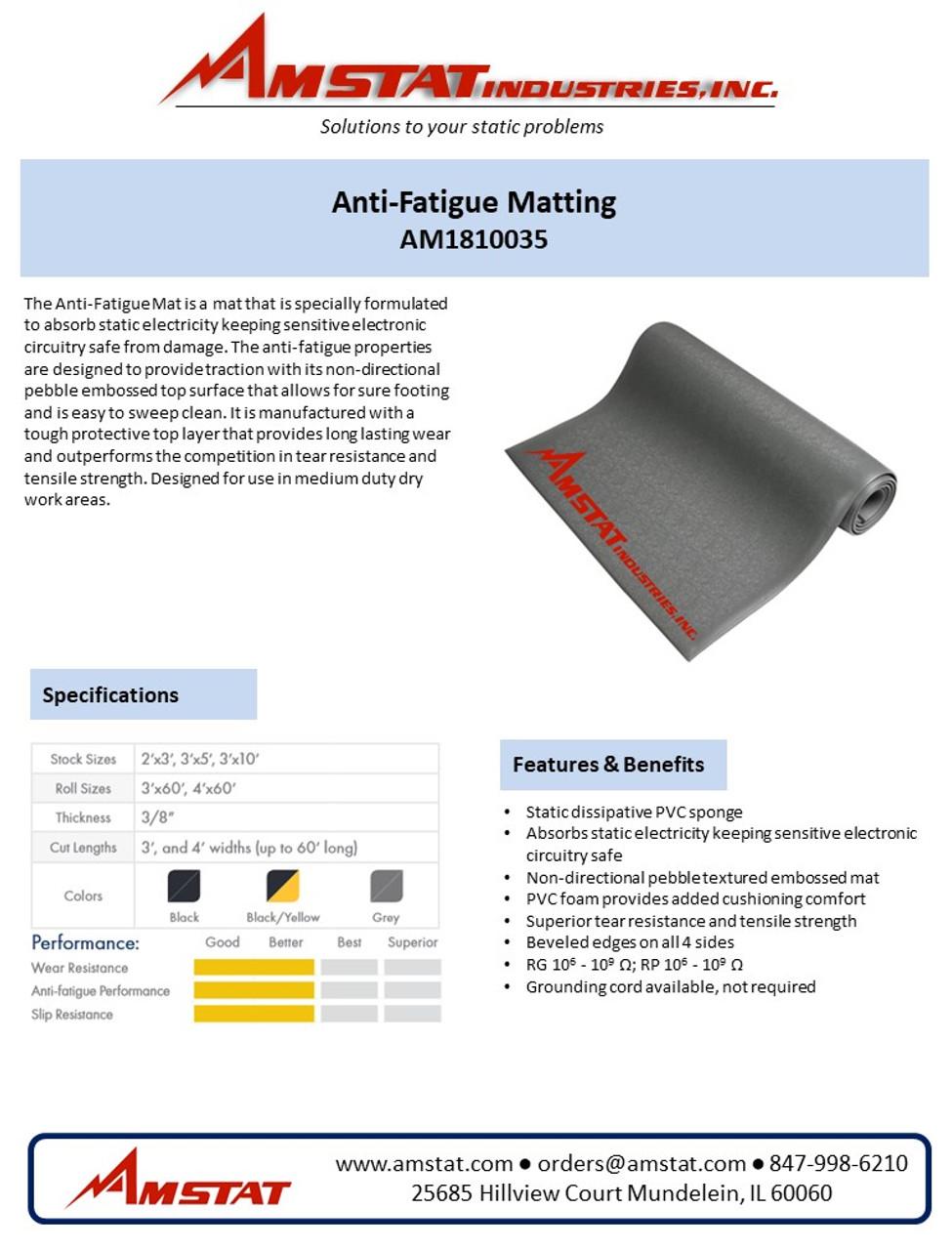 Anti-Static/Anti-Fatigue Matting