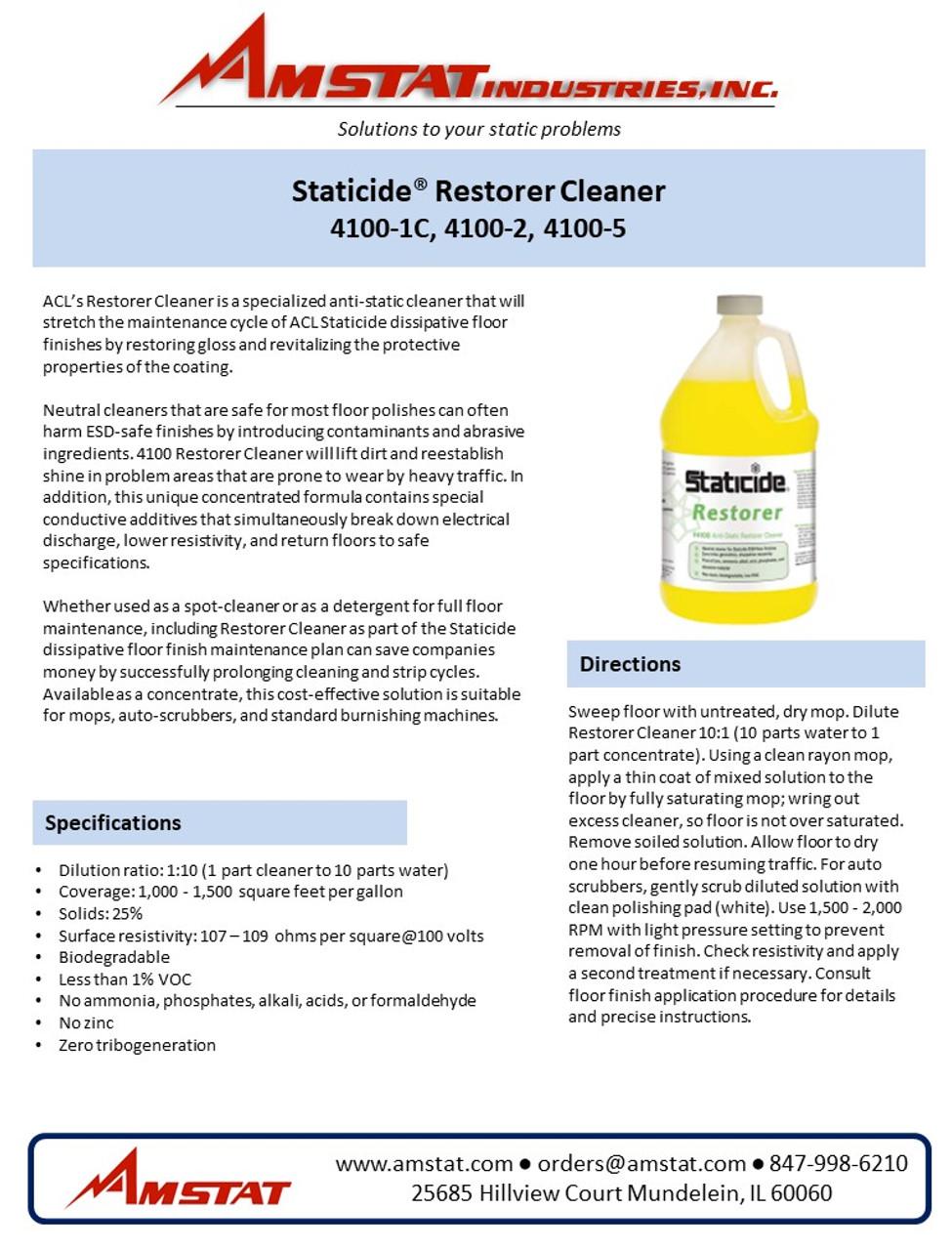 Restorer Cleaner Data Sheet