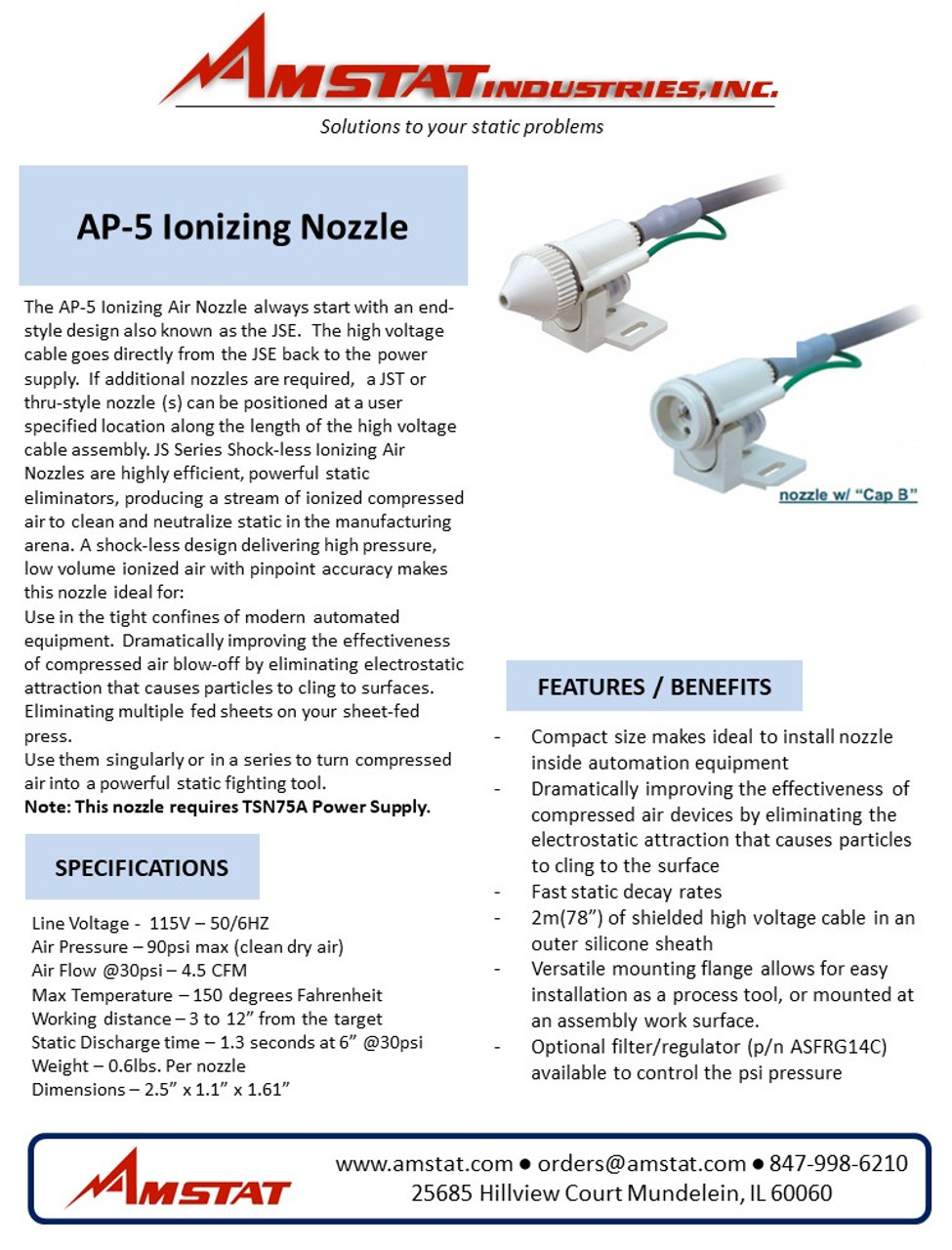 AP-5 Ionizing Nozzle