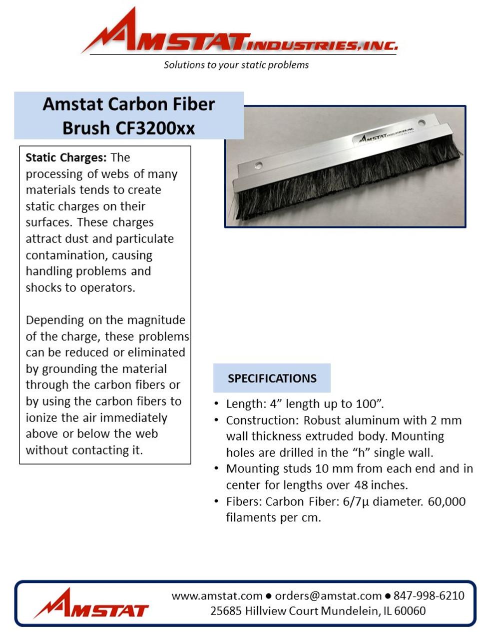 Carbon Fiber Brushes (30mm bristles) - $6.00/inch