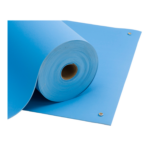 Homogeneous Pre-Cut ESD Mats (Light Blue)
