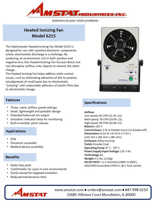 Heated Ionizing Fan 6215