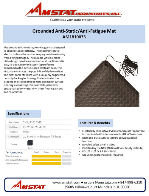 Grounded Anti-Static/Anti-Fatigue Matting