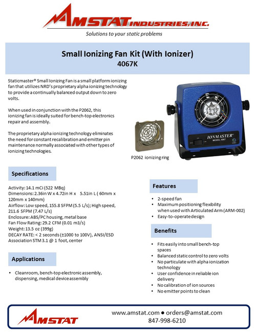 Small Ionizing Fan Kit (With Ionizer)