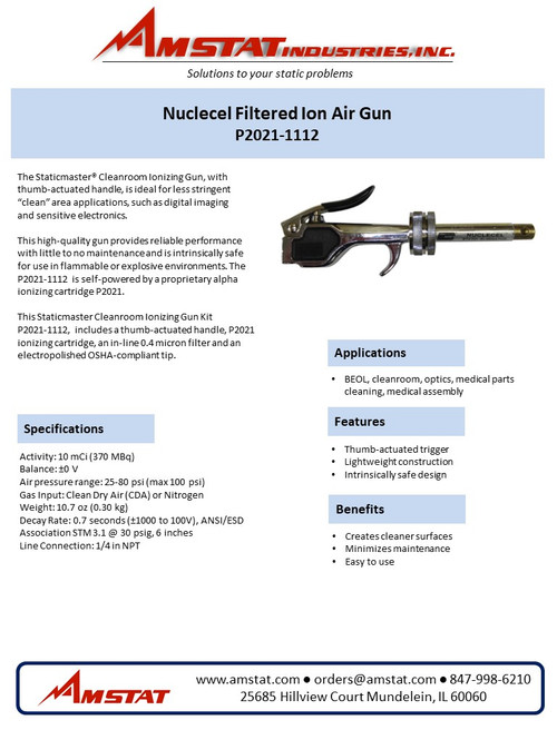 Nuclecel Filtered Ion Air Gun