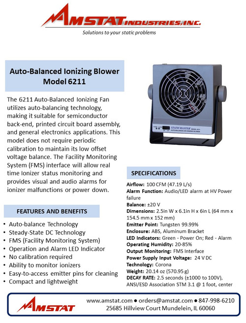 Auto-Balanced Ionizing Blower - 100 CFM