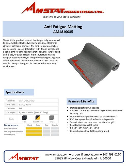 Anti-Static/Anti-Fatigue Matting