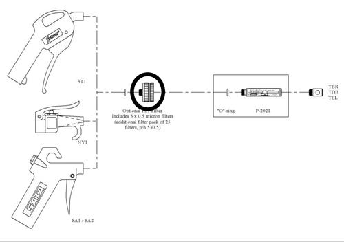 Filter Housing for General Purpose Ionizer Handles