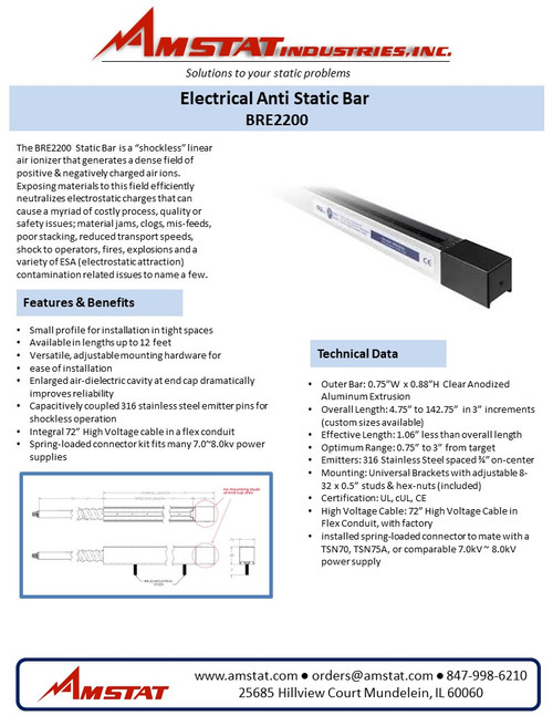 Electrical Anti Static Bar - Static Control Bar BRE2200