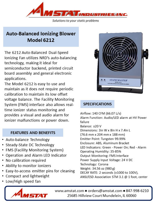 Auto-Balanced Ionizing Blower - 140 CFM