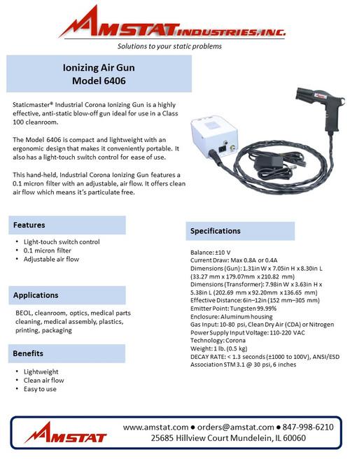 Industrial Electrical Ionizing Air Gun - 6406