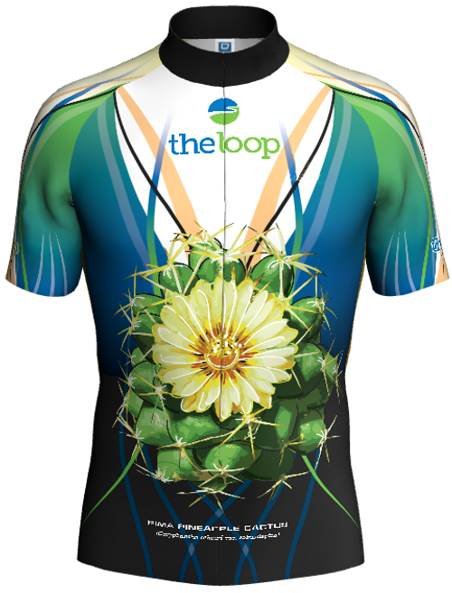 Cactus Bike Jersey (Front). Back design is the same as the front.