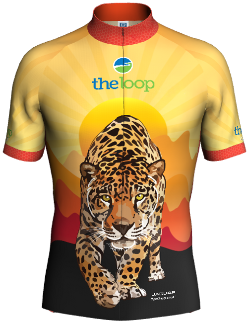 Jaguar Bike Jersey (Front). Back design is the same as the front.