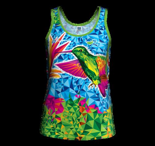 Women's Sleeveless Hummingbird Running Shirt