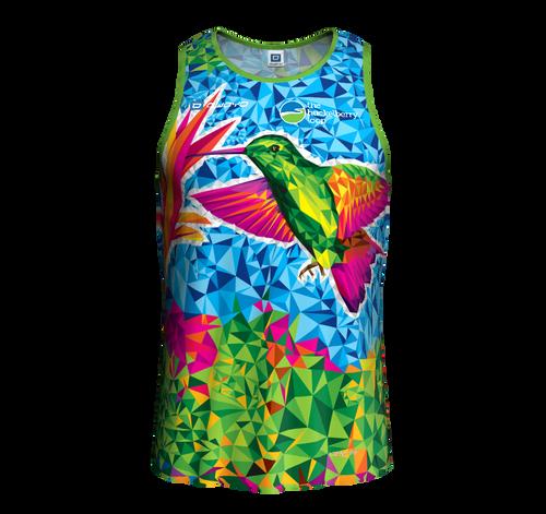 Men's sleeveless hummingbird running shirt