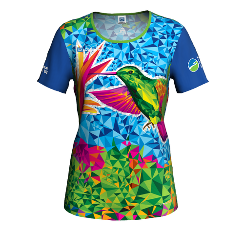 Women's hummingbird short-sleeved running shirt