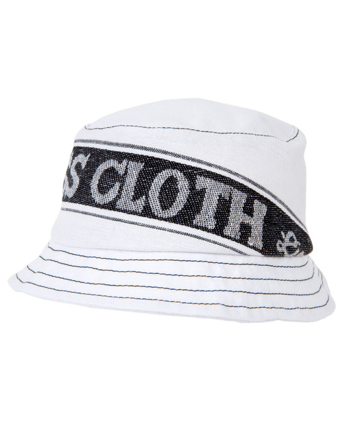 Tea Towel Bucket Hat - White/Black