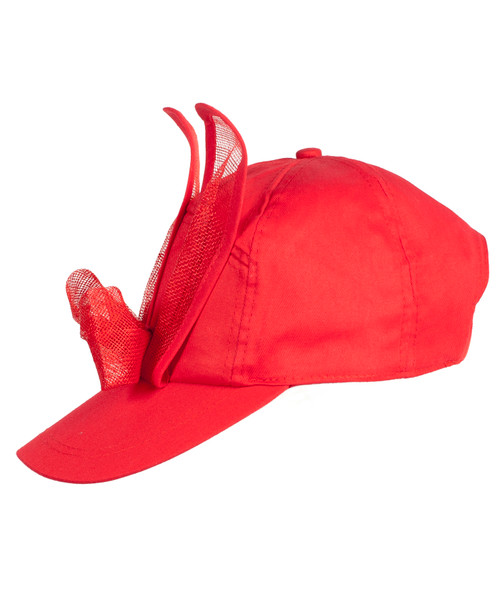Mesh Bunny Cap - Red