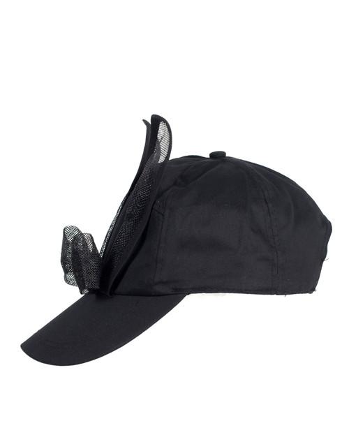 Mesh Bunny Cap - Black