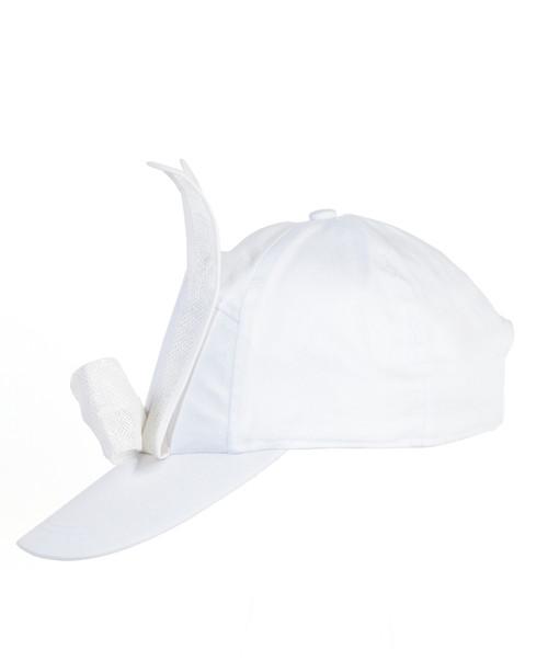 Mesh Bunny Cap - White