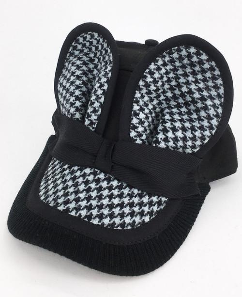Tweed Mouse Cap - Black/Blue