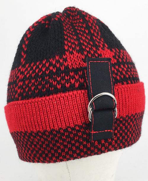 Tartan Beanie - Black/Red
