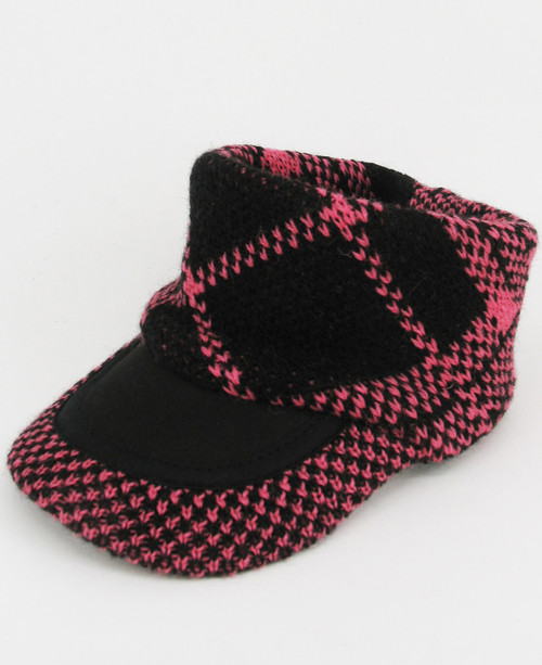 Check Visor - Black/Pink