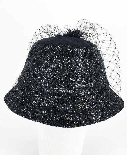 Glitter Veil Hat