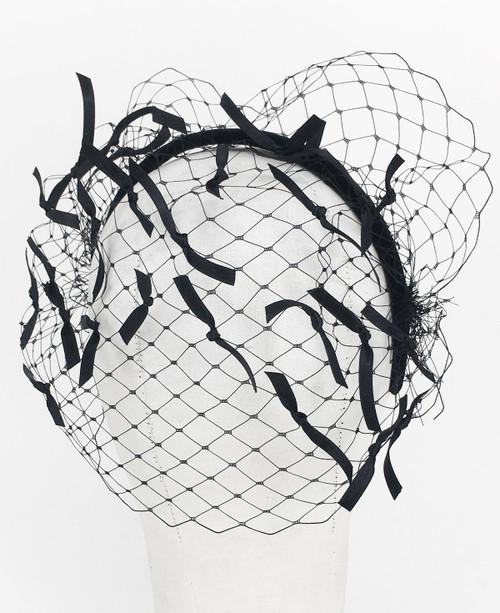 Ribbon Veil - Black/Black