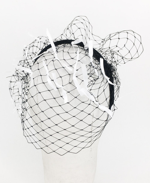 Ribbon Veil - Black/White