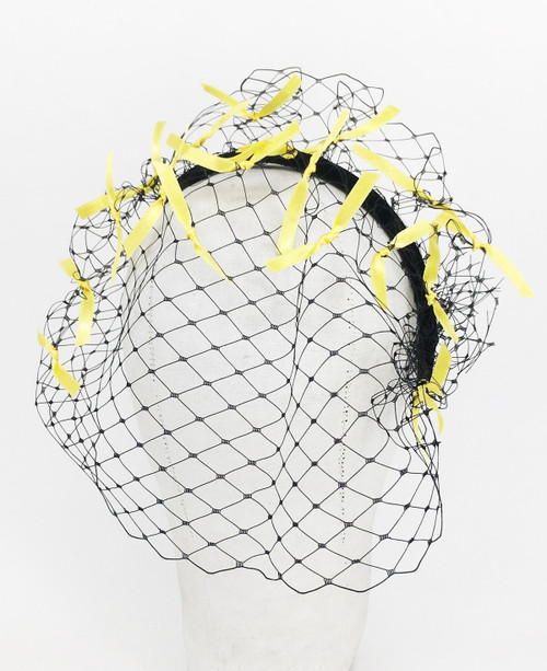 Ribbon Veil - Black/Yellow