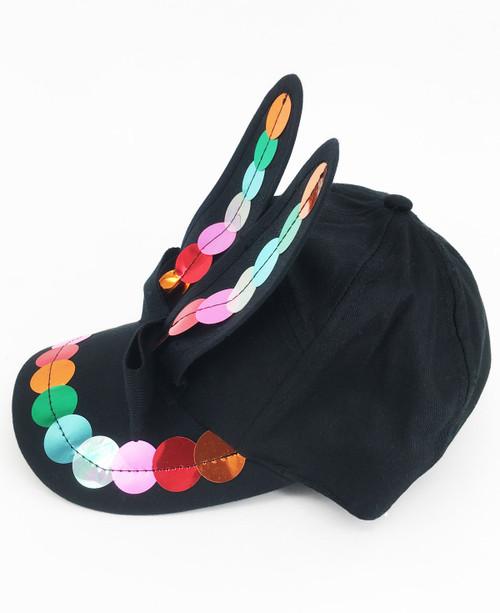 Sequin Bunny Cap - Rainbow