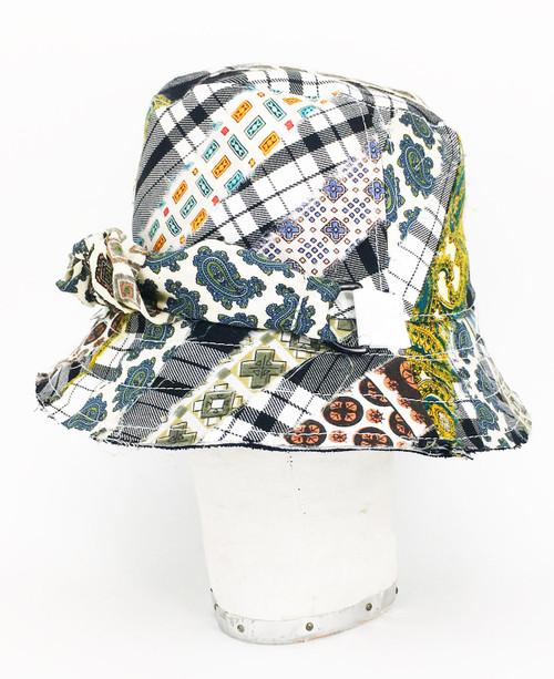 Mix Tartan Bucket Hat - Black & White