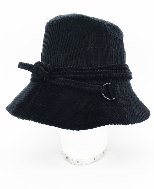 Corduroy Slouch Hat - Black