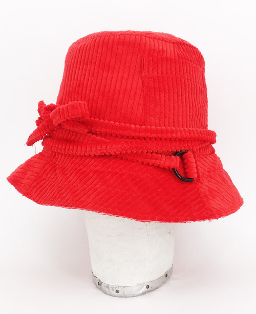 Corduroy Slouch Hat - Red