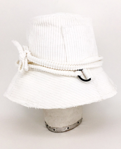 Corduroy Slouch Hat - Off White