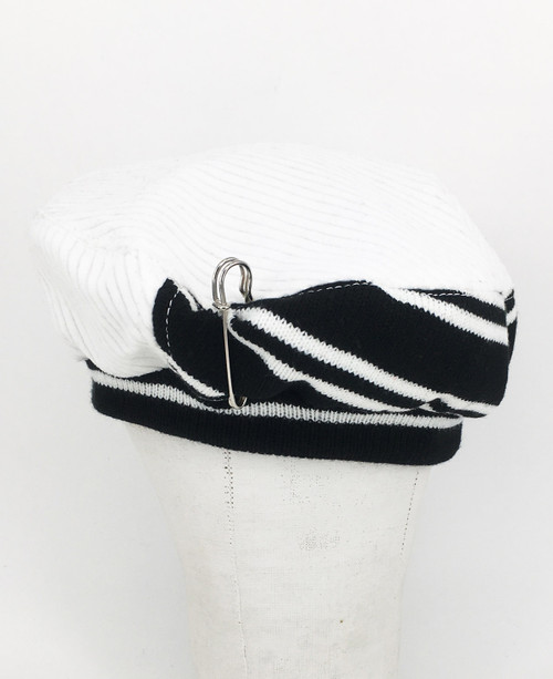 Stripe Beret - Black & White