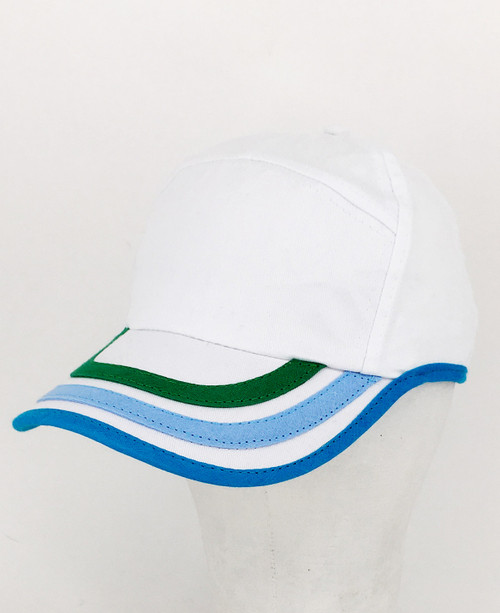 Stripe Peak cap - White