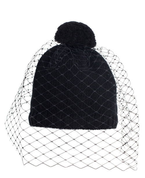 Shetland Veil Beanie - Black