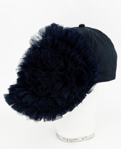 Ruffle Cap - Black