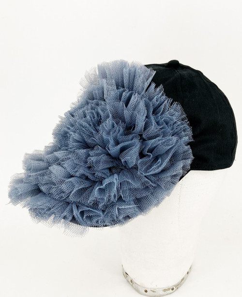 Ruffle Cap - Grey/black