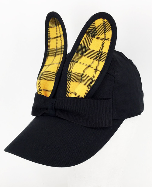 Check Bunny Cap - Yellow