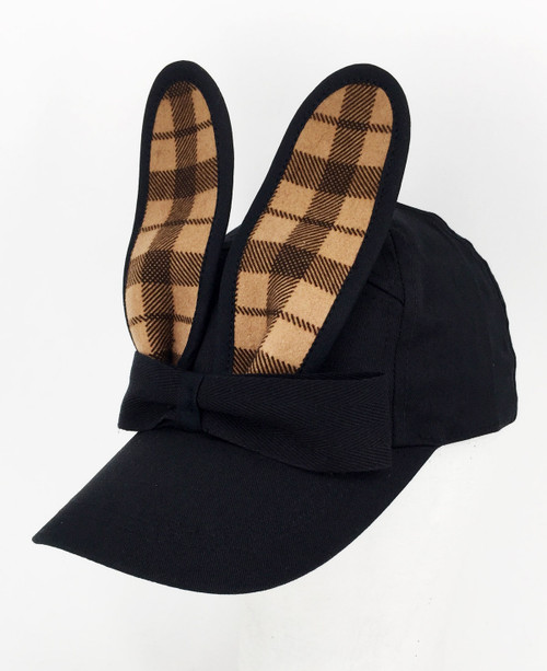 Check Bunny Cap - Tan