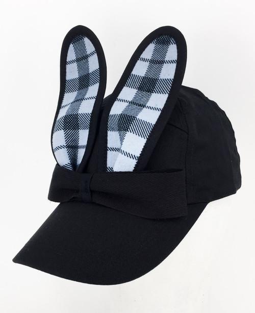 Check Bunny Cap - Blue